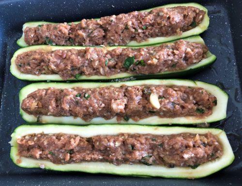 Zucchine ripiene di carne in versione light